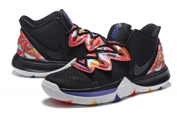 new arrival f029b 14253 Kyrie Irving Nike Kyrie 5 Black Multi-Color Shoes-4
