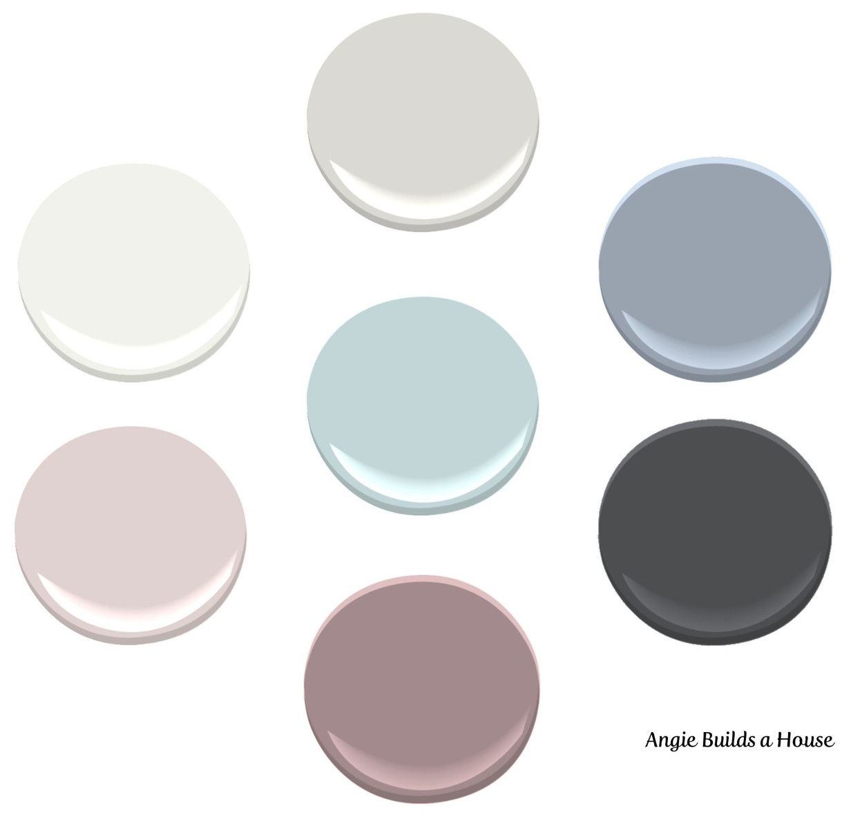 Interior paint color palette all benjamin moore colors shoreline