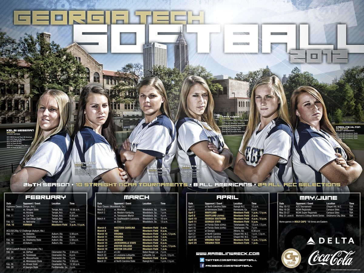 Tech Official Athletic Site Softball posters