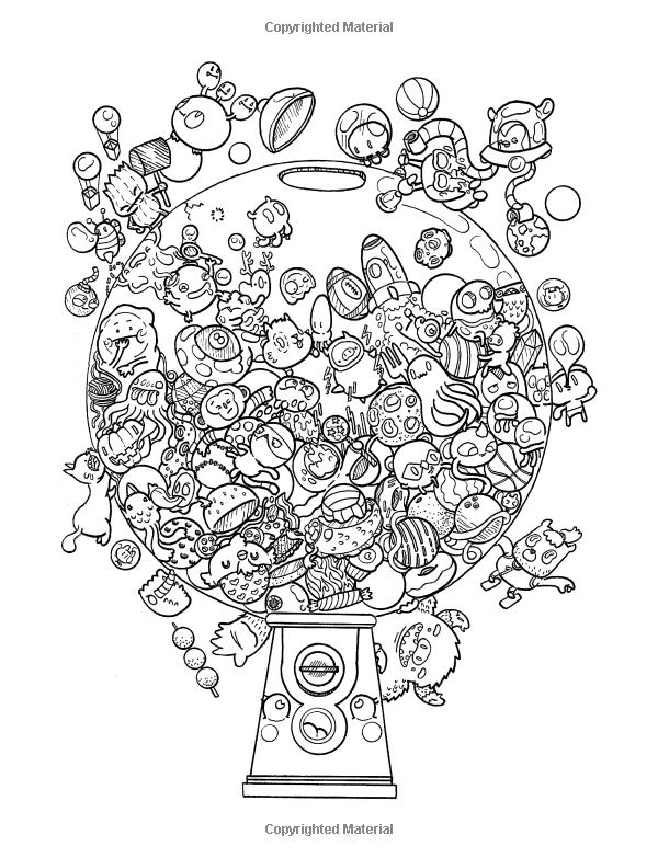 Amazon.com: Doodle Chaos: Zifflin\'s Coloring Book (Volume 3 ...
