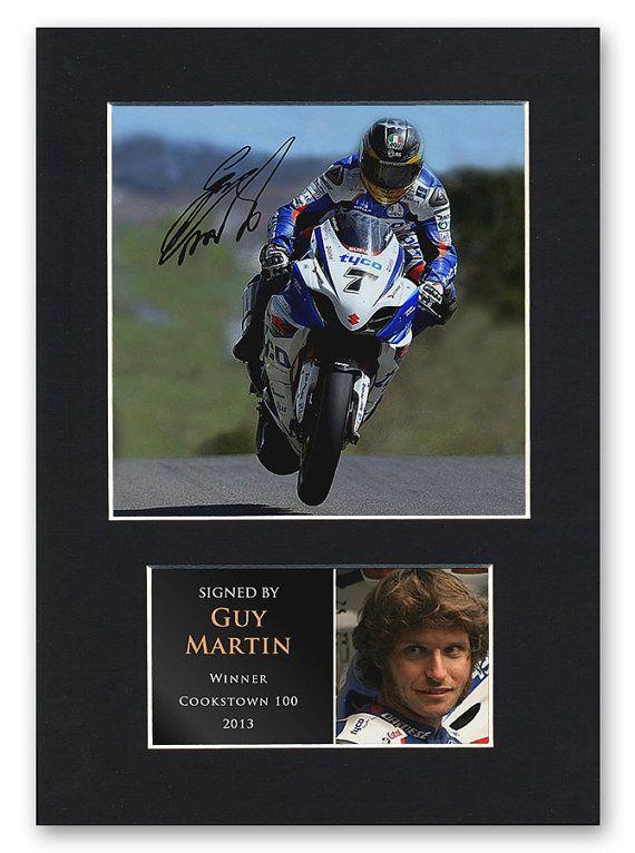Guy Martin 2013 Signed Mounted Photo Display