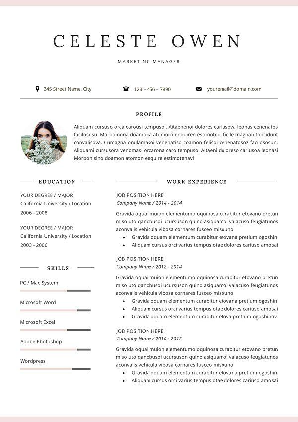 Professional Resume Template By Gresume On Creativemarket