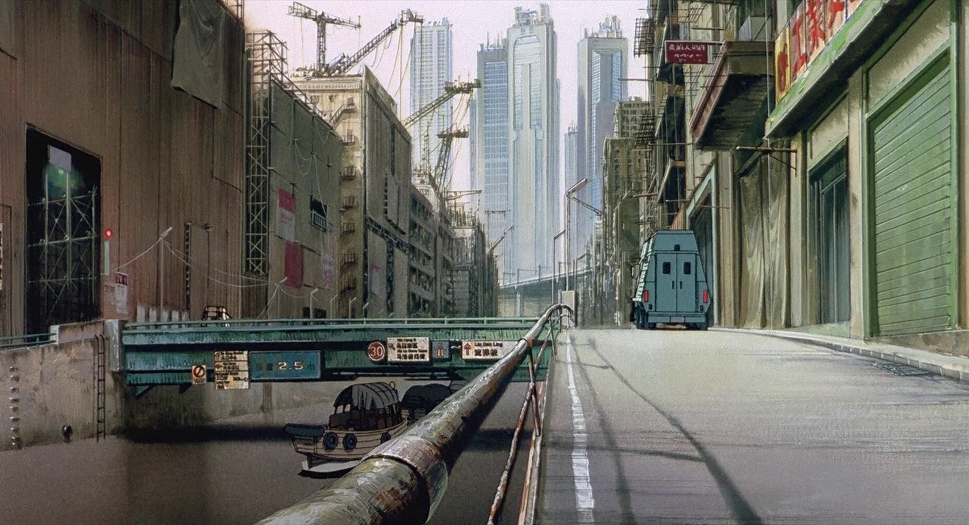 Gits Architecture Ghost In The Shell Anime Background Animation Background