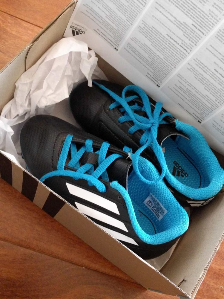 Adidas conquisto fg blue b25593 kids soccer cleats shoes