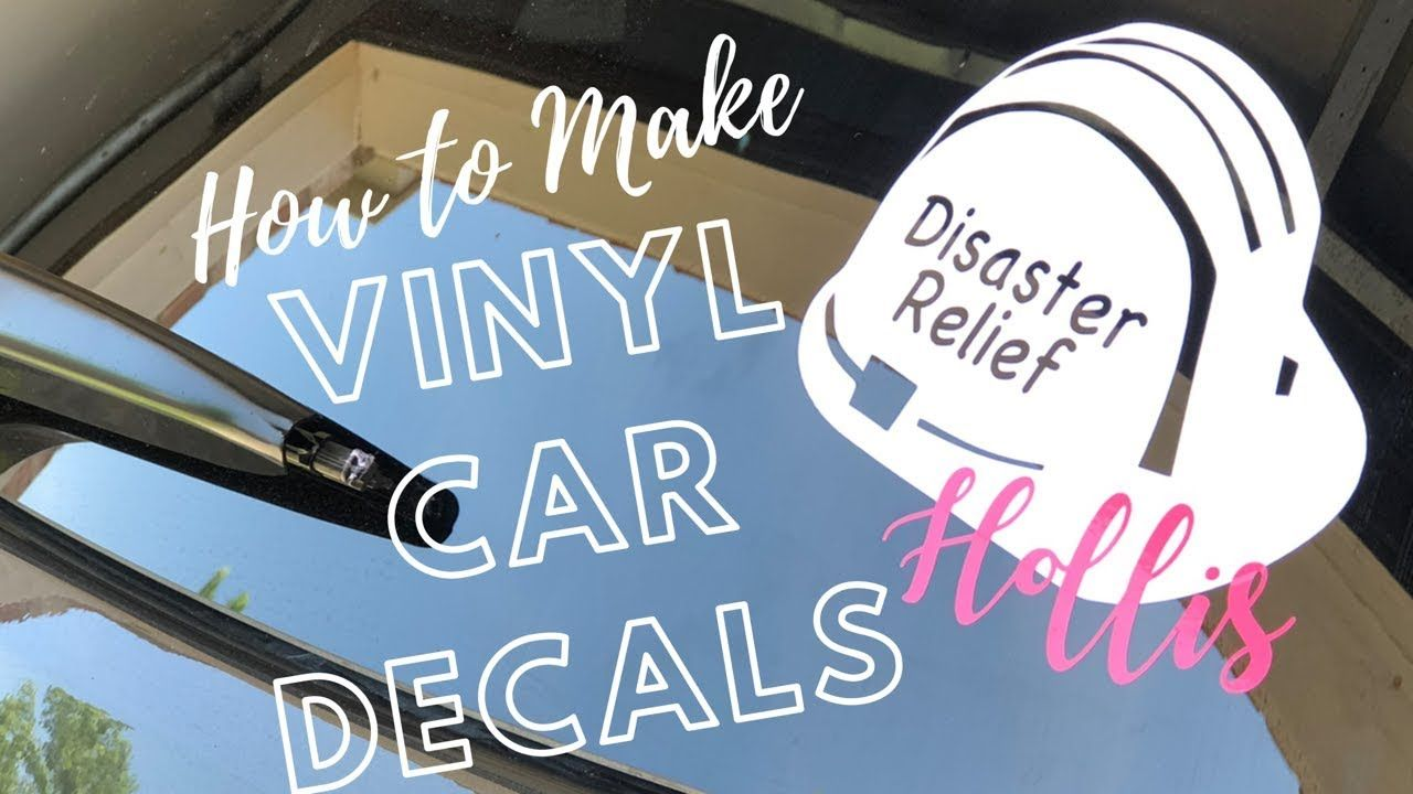 How to make a vinyl car decal with cricut car decals