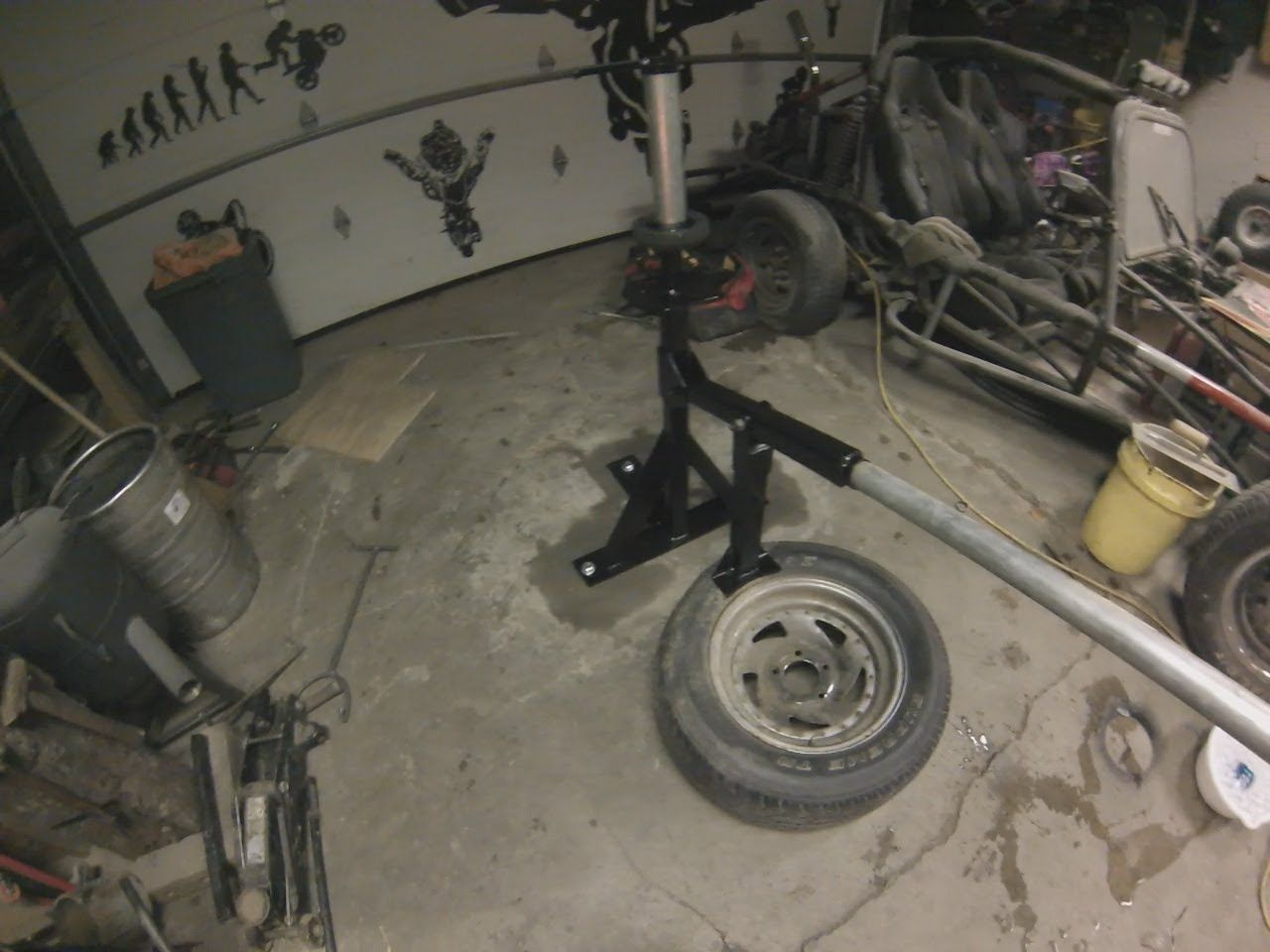 How To Build A Homemade Tire Changer From Scrap Metal Scrap Metal Metal Projects Tire