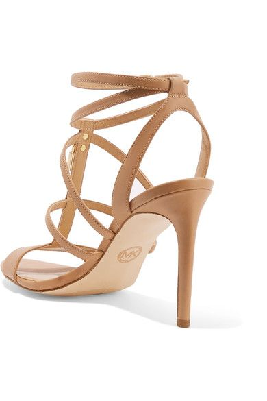 5412aee42b22 MICHAEL Michael Kors - Antoinette Leather Sandals - Neutral - US9.5 ...