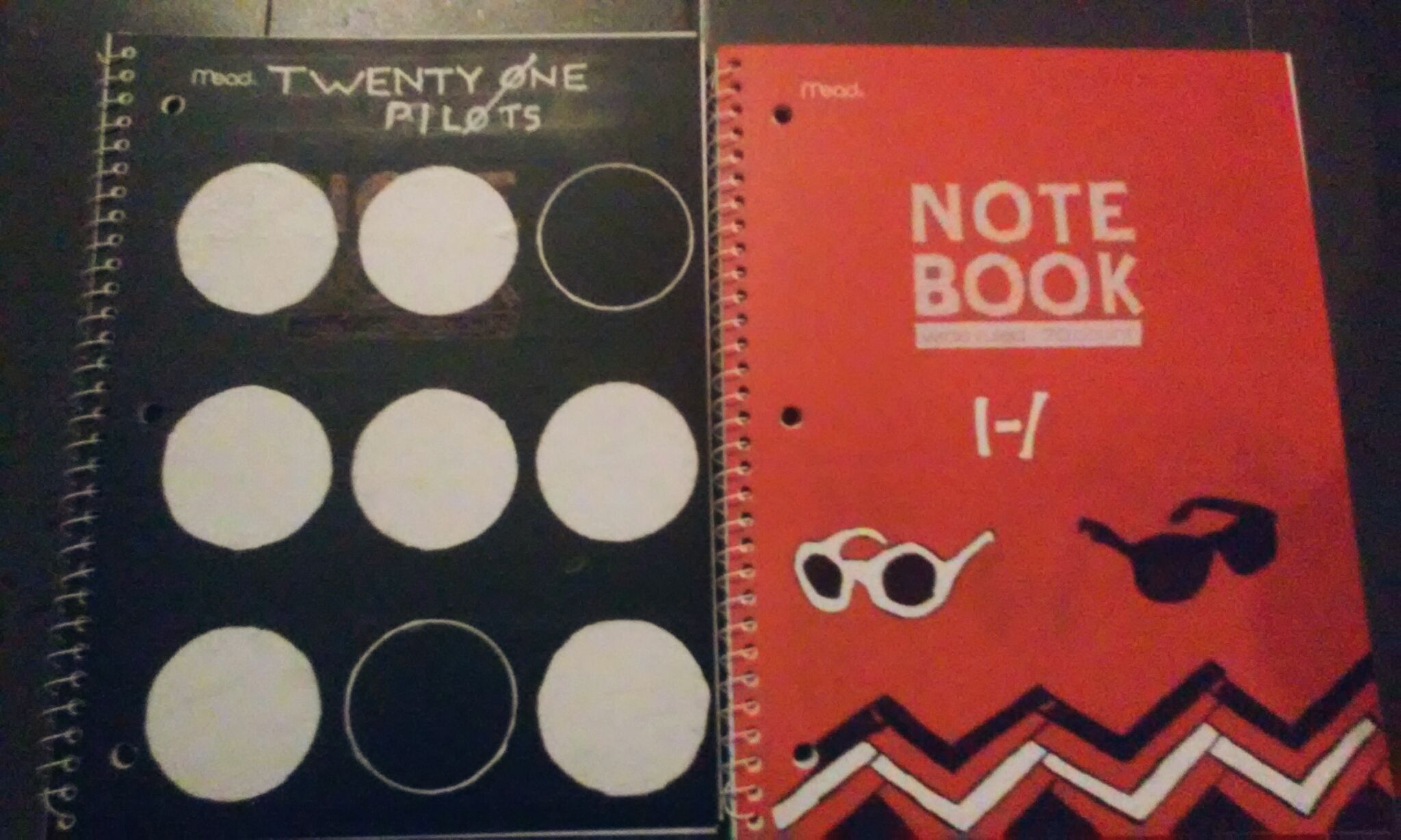 Well I fixed up my notebooks and they came out alright. |-/