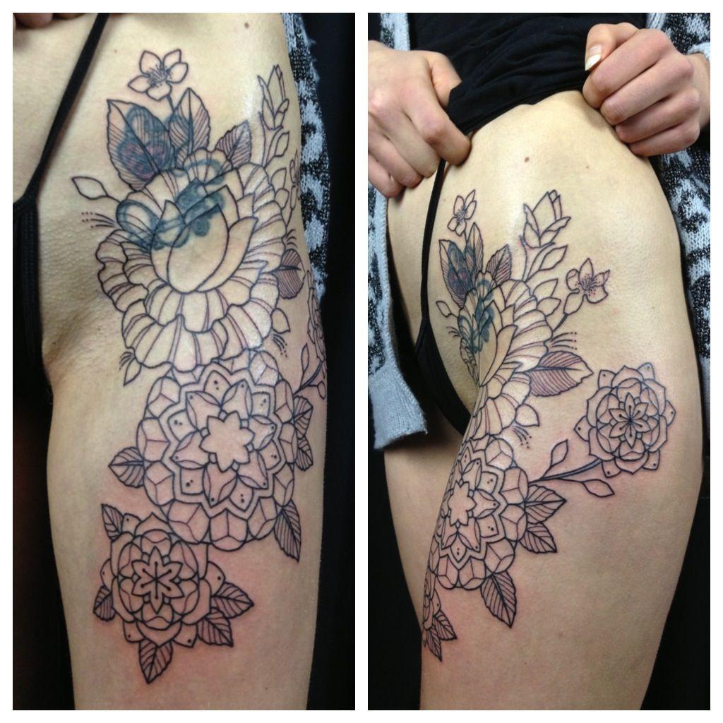 Geometric Tattoos Portland: Geometric Flower Tattoo. That'll Look Really Good When It