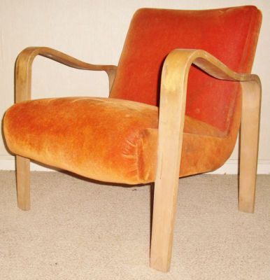 Amazing 1940S Mid Century Modern Thonet Bentwood Arm Lounge Chair Spiritservingveterans Wood Chair Design Ideas Spiritservingveteransorg