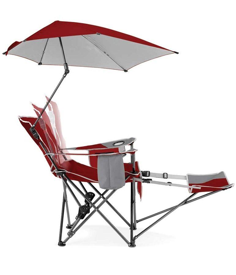 SKLZ Sport-Brella Folding Recliner Chair w/ Umbrella u0026 Footrest  sc 1 st  Pinterest & SKLZ Sport-Brella Recliner Folding Chair w/ Umbrella u0026 Footrest ...