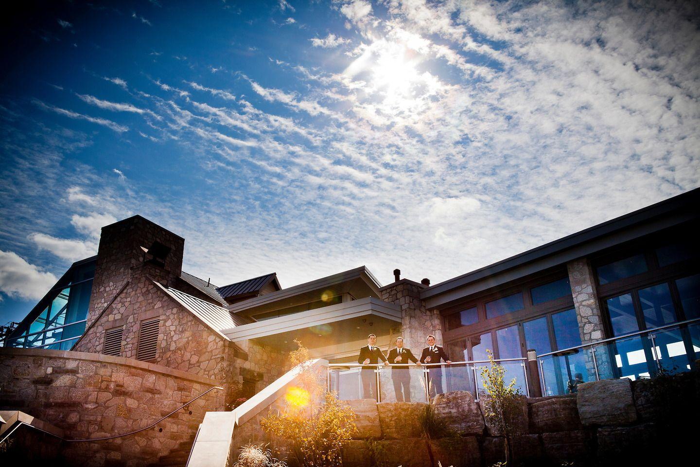 Beautiful Sky Groomsmen Outdoor Wedding Venue Cambridge Mill Ontario