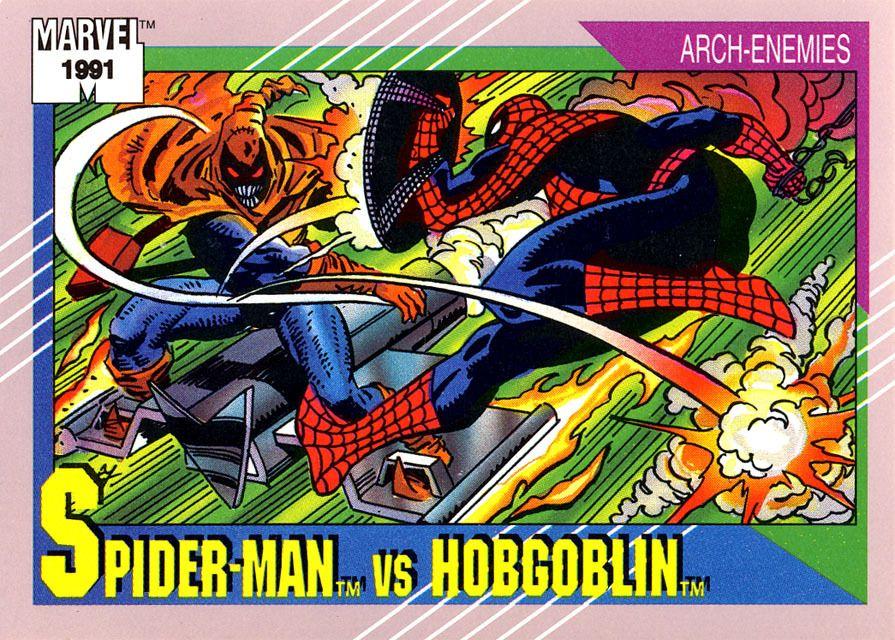 Comic book trading cards hobgoblin marvel cards marvel