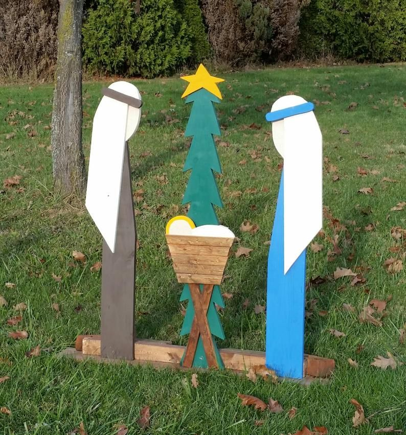 Outdoor Christmas Decorations Nativity Set Outdoor Wooden Nativity Set Christmas Decorations Outdoor Preorder For Christmas 2020 Christmas Decorations Christmas Wood Crafts Wooden Nativity Sets