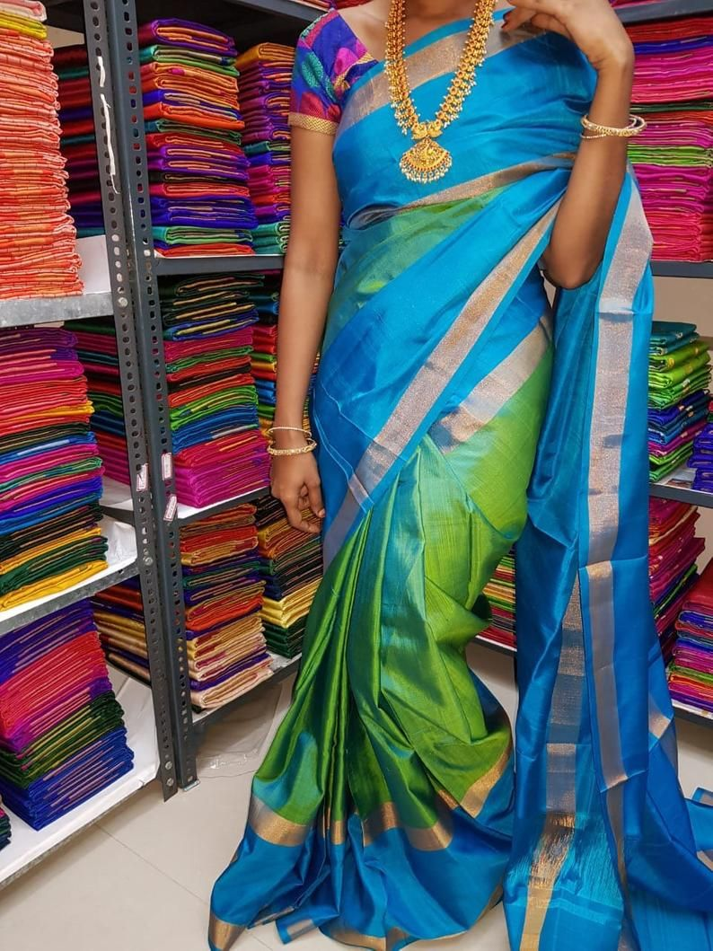 Photo of Uppada silk saree Uppada pattu saree Uppada sarees Uppada silk Uppada pattu Uppada silk saree stitched blouse on request available