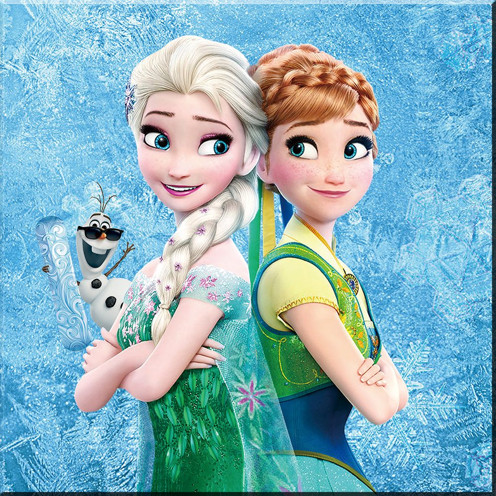 Diy Cartoon Girl Diamond Painting Square Resin Rhinestone Pasted Diamond Embroidery Needlework Home Decoration Bk 2 Frozen Sisters Elsa Frozen Diamond Painting