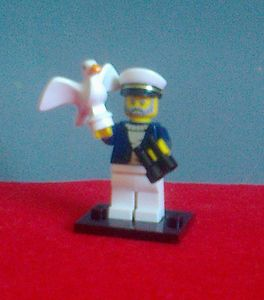LEGO 71001 Mini Figures Series 10 #10 Sea Captain Binoculars Seagull New | eBay
