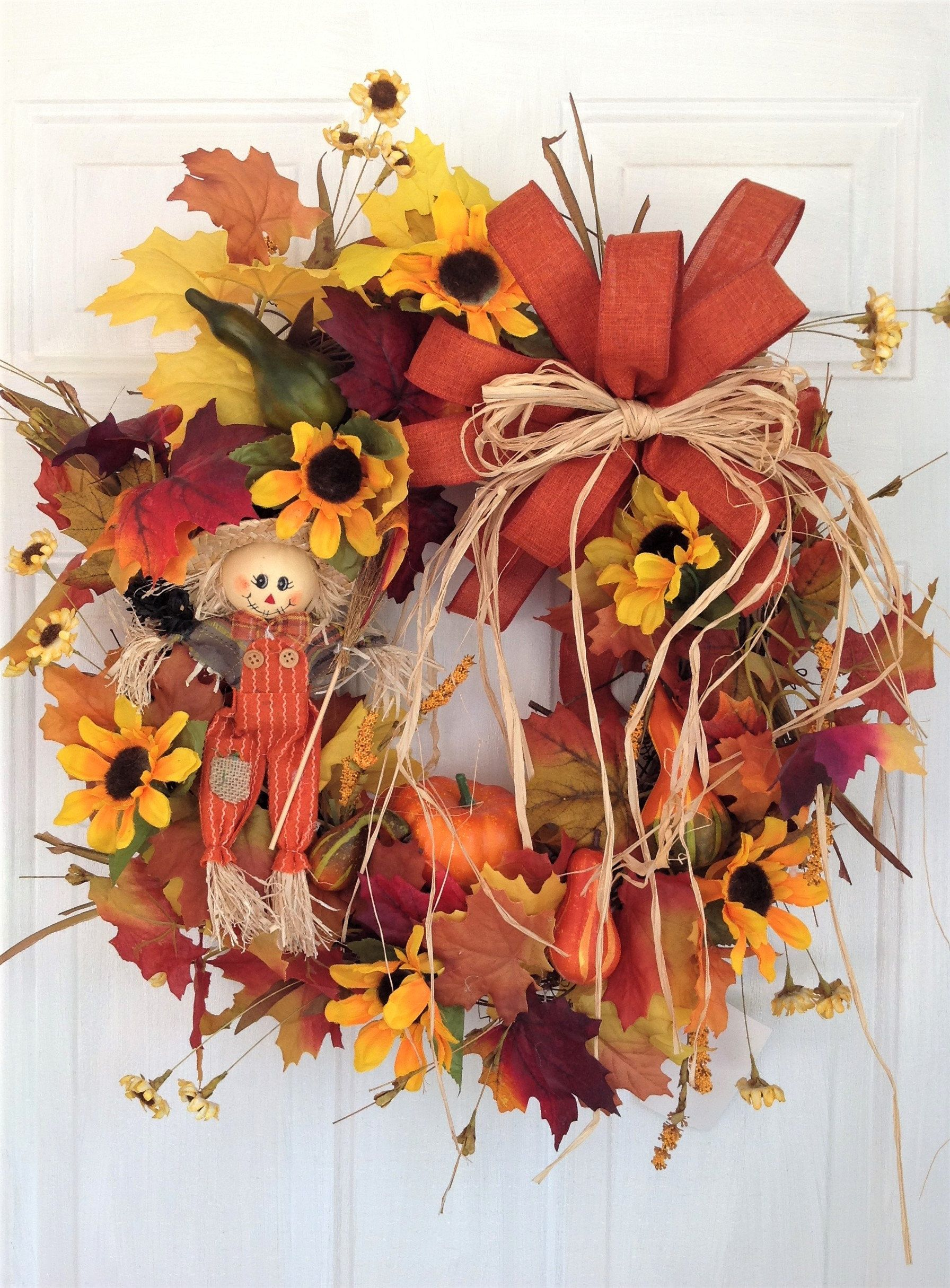 Photo of Fall Wreath For Front Door, Autumn Wreath, Fall Door Wreath, Fall Door Decoration, Autumn Wreath, Autumn Door Decor, Sunflower Wreath