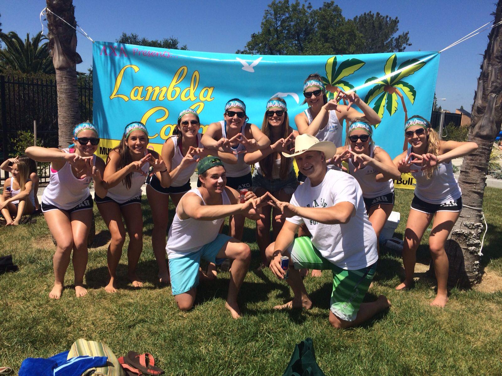 Axo Cal Poly At Lxa S Lambda Cabana Beach Volleyball Philanthropy Tournament Big Little Week Philanthropy Lambda
