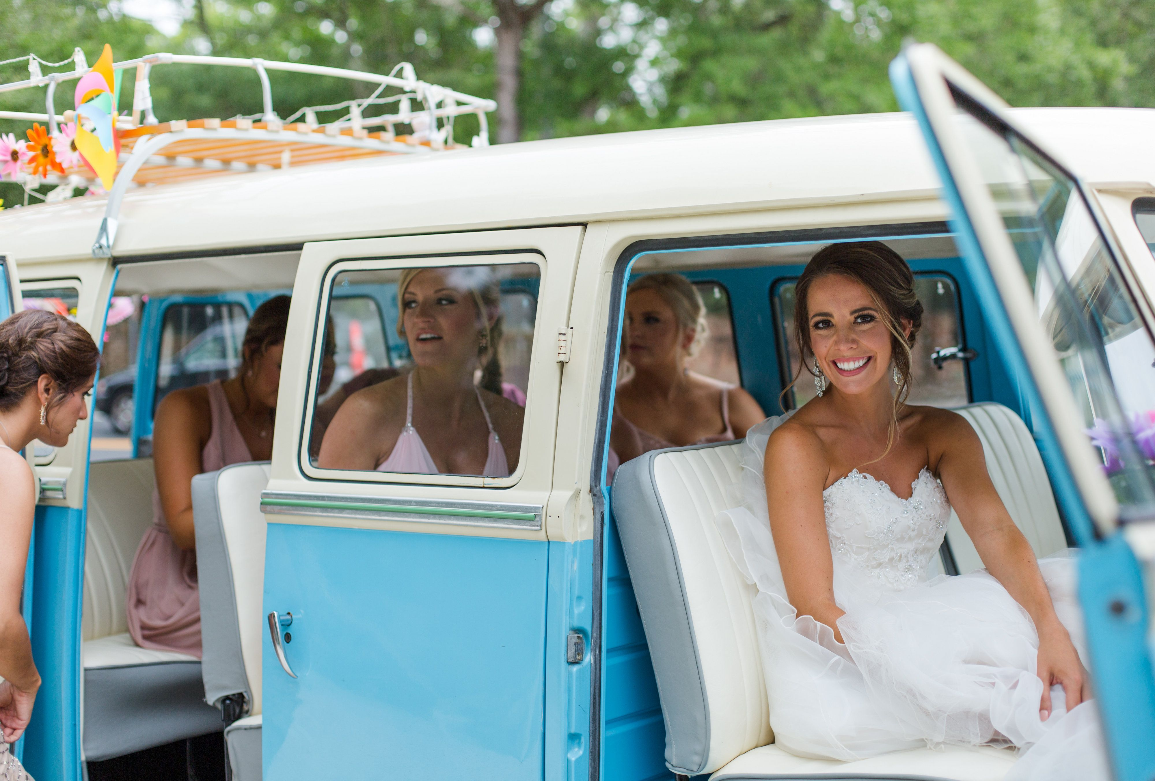 Heading to the chapel in our VW Bus