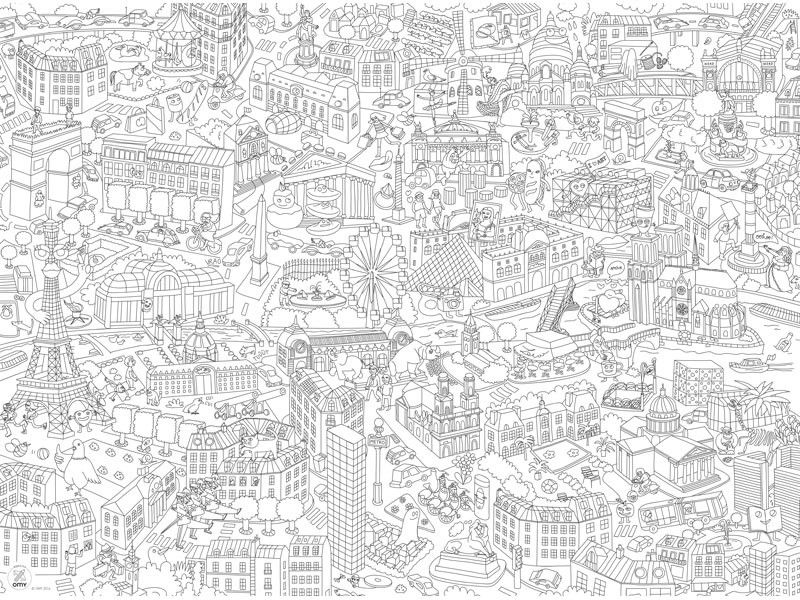 My Paris Coloring Pocket Map Coloring Pages Colouring Pages Map