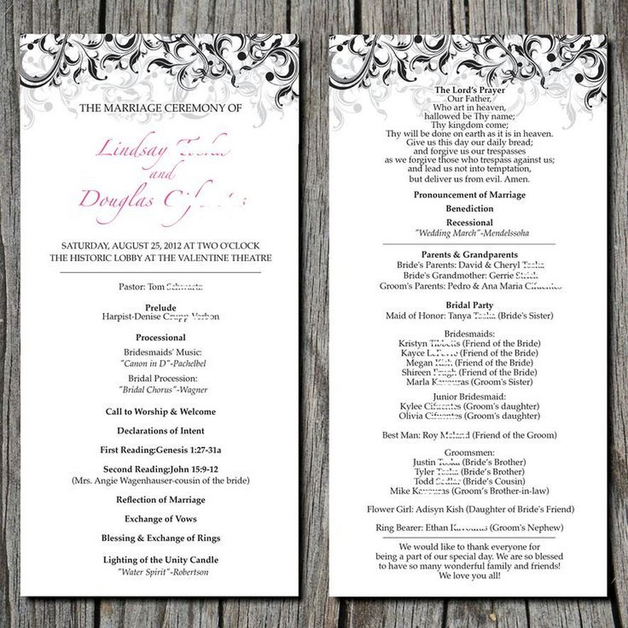 Perfect 35 Simple Wedding Reception Program Sample Ideas Wedding