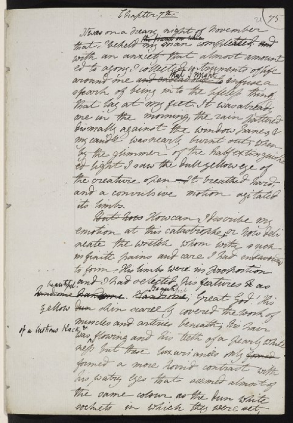 Mary Shelleys Handwritten Frankenstein Manuscript  Frankenstein  Mary Shelleys Handwritten Frankenstein Manuscript Need A Cheap Custom Written Assignment In Apa Format Right Now also Custom Writting Services  Science Essay Ideas