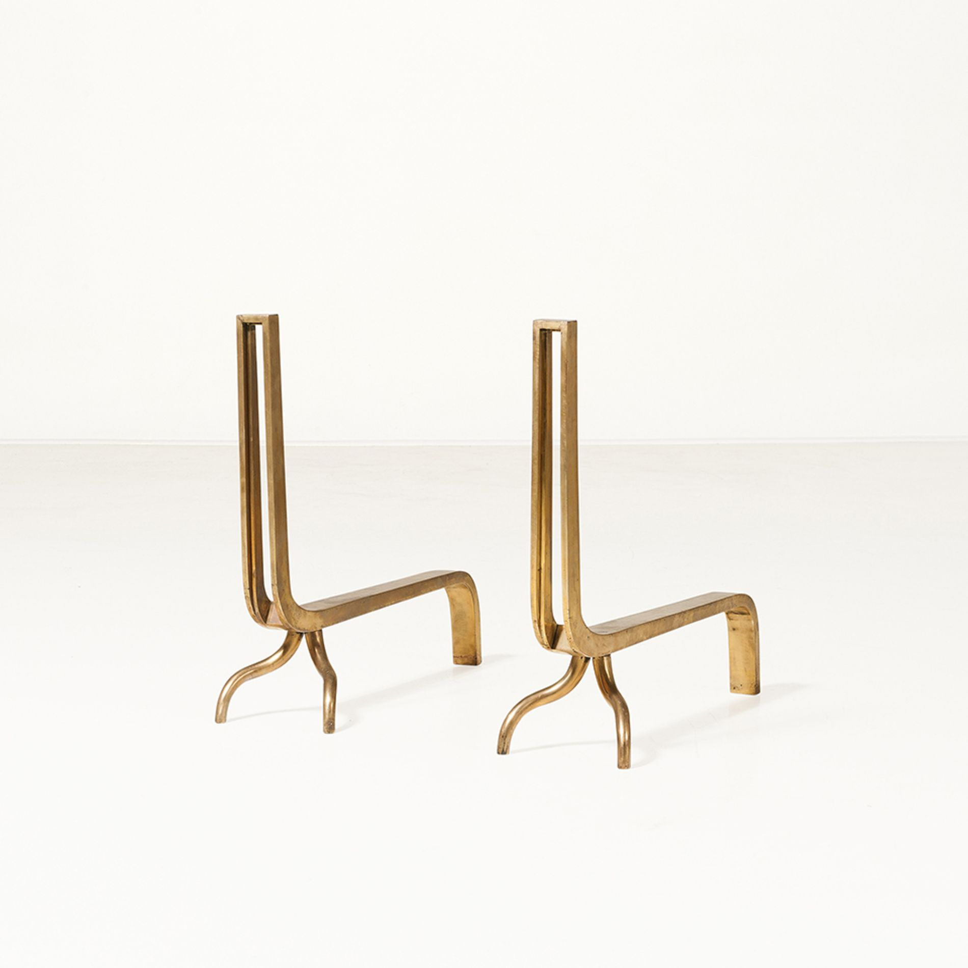 anonymous brass andirons 1950s objected pinterest anonymous