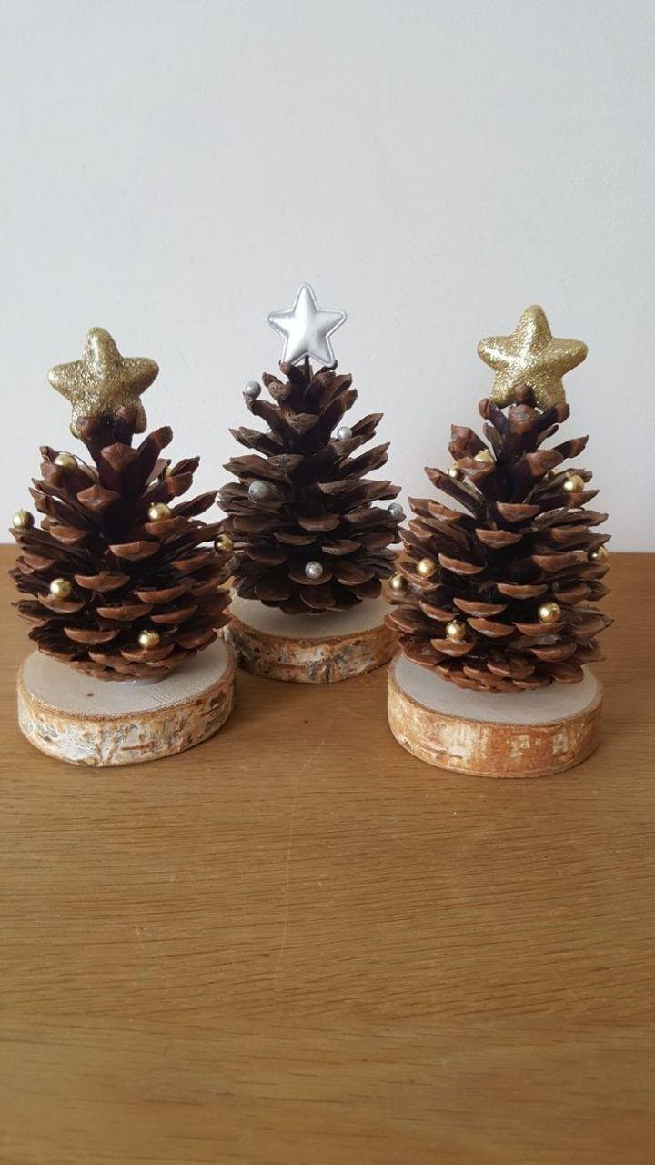 Christmas tree on wood …. #bricolagenoelenfantfacile
