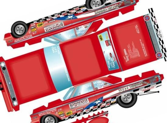 This Cool And Easy To Build Paper Model With Great Textures Of The Texas Thunder Dragster Racing Car Was Created By North American Desi