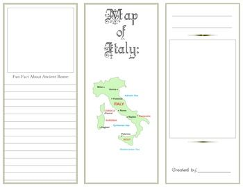 Ancient rome brochure ancient rome rome and brochures for Travel brochure template ks2