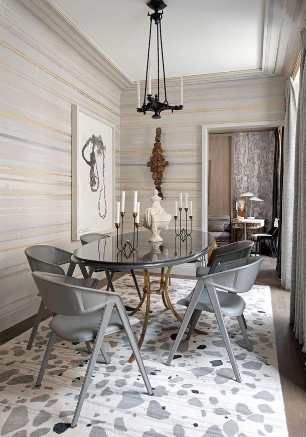 Una casa decorada en plata y oro · A silver & gold home | Decoración ...