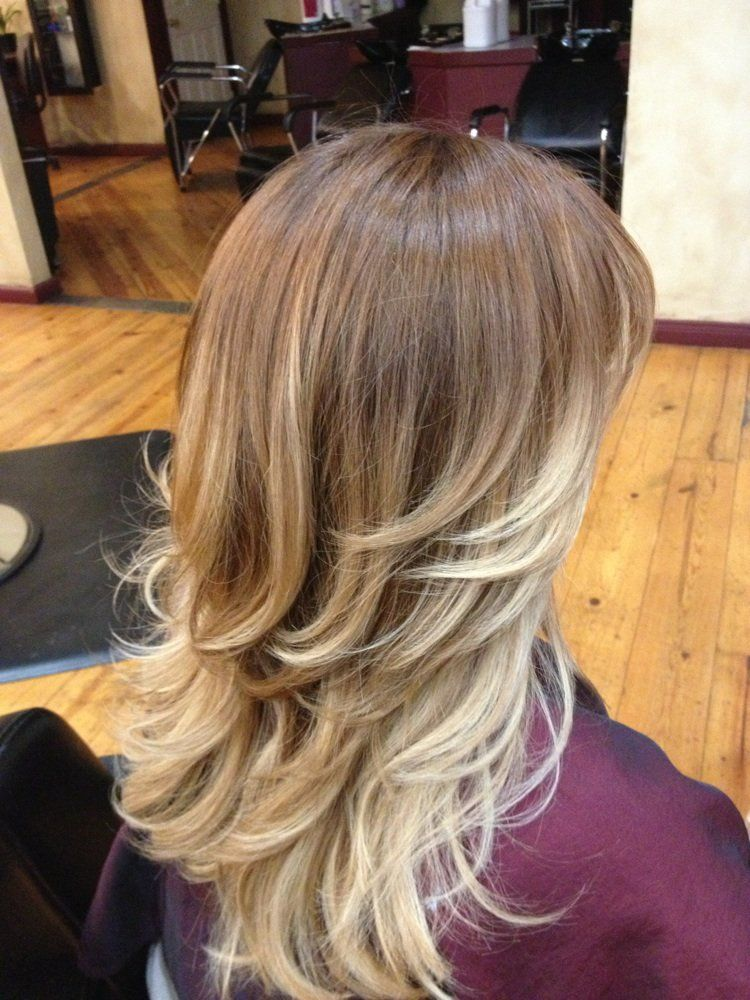 Light brown to blonde balayage ombre before and after jpg my hairstyles pinterest blonde - Ombre braun blond ...