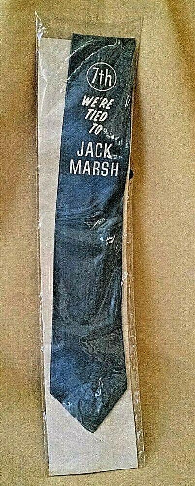 JACK MARSH TIE NECKTIE POLITICAL PROMO 7TH DISTRICT VA