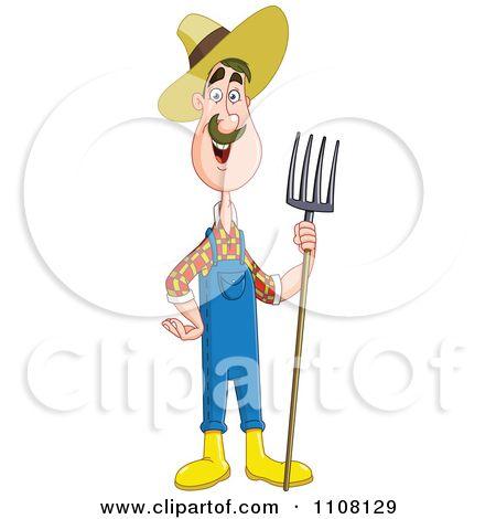 happy farmer family cartoon character - Download Free Vectors, Clipart  Graphics & Vector Art