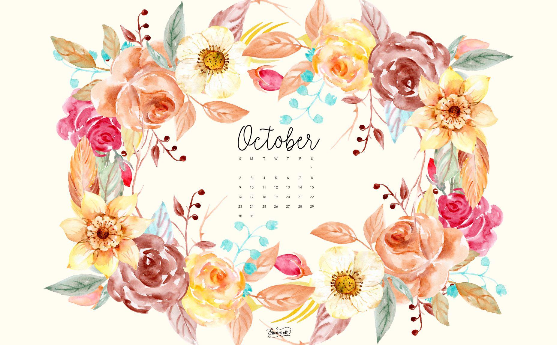 October 2016 Calendar + Tech Pretties October wallpaper