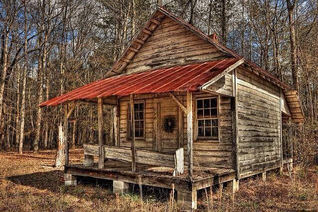 Old cabin in the woods cabins pinterest cabin for Log cabin builders in alabama