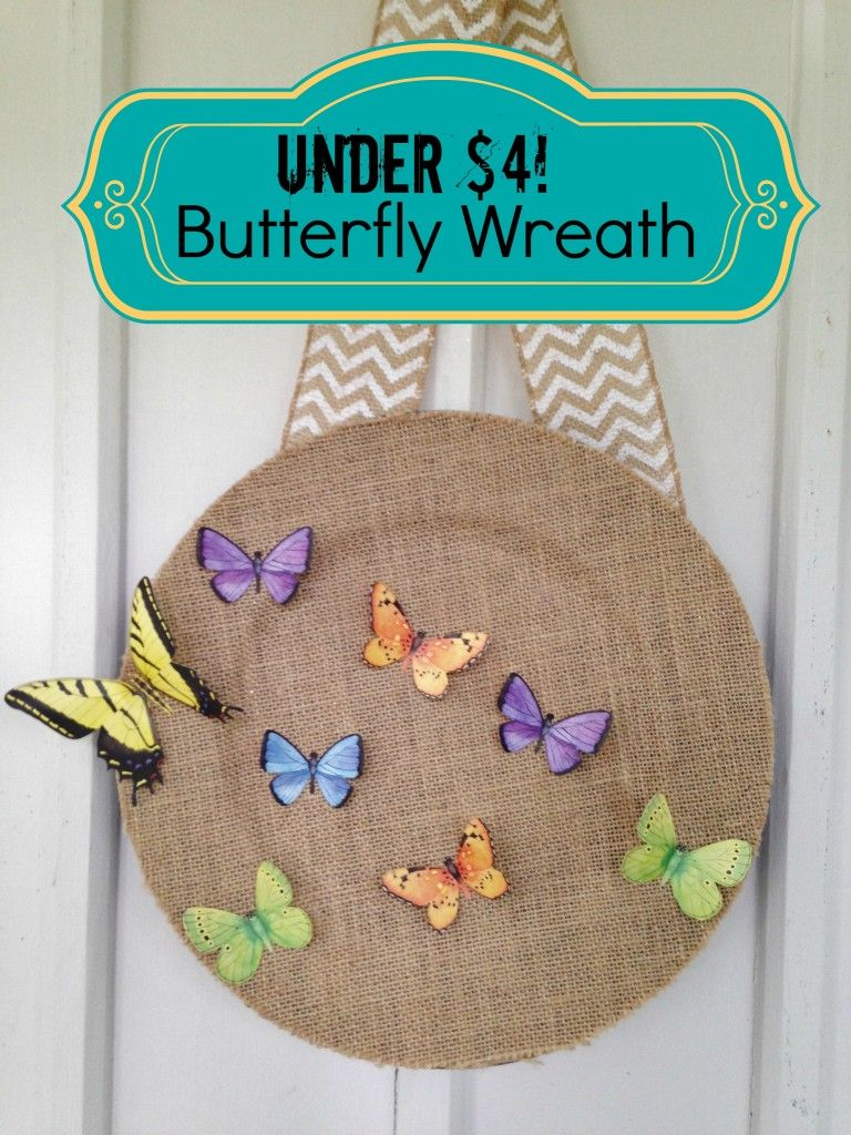 Easy spring crafts for seniors - Spring Frugal Butterfly Door Wreath Home Decor Fun Crafts For Kidseasy