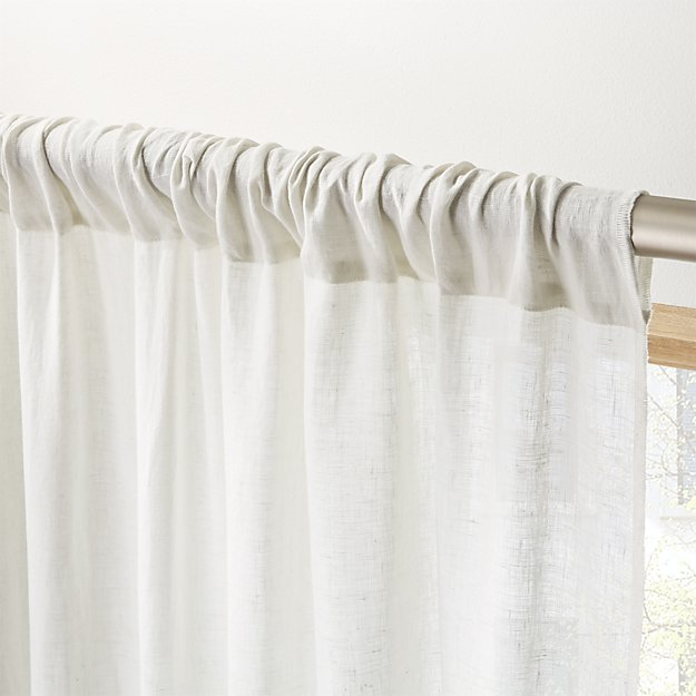 Natural Linen Curtain Panel 48 X96 With Images Linen Curtain