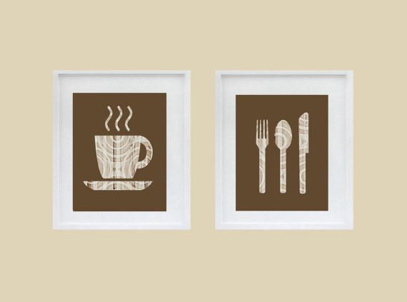 Abstract Kitchen Art Coffee Mug Cutlery Fork by HLBhomedesigns, $35.00