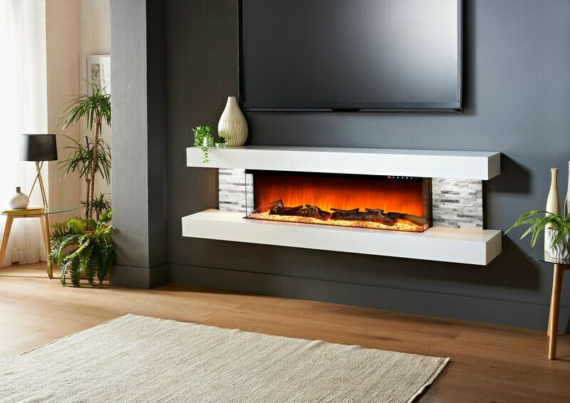 White Electric Fireplace In 2020 Wall Mount Electric Fireplace Modern Electric Fireplace Electric Fireplace