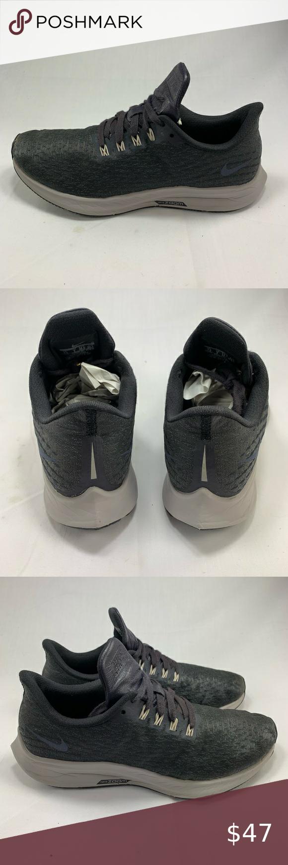 Turismo uvas clima  Nike Air Zoom Pegasus 39 - Charcoal - Sz 7.5 in 2020 | Nike air zoom pegasus,  All black sneakers, Air zoom