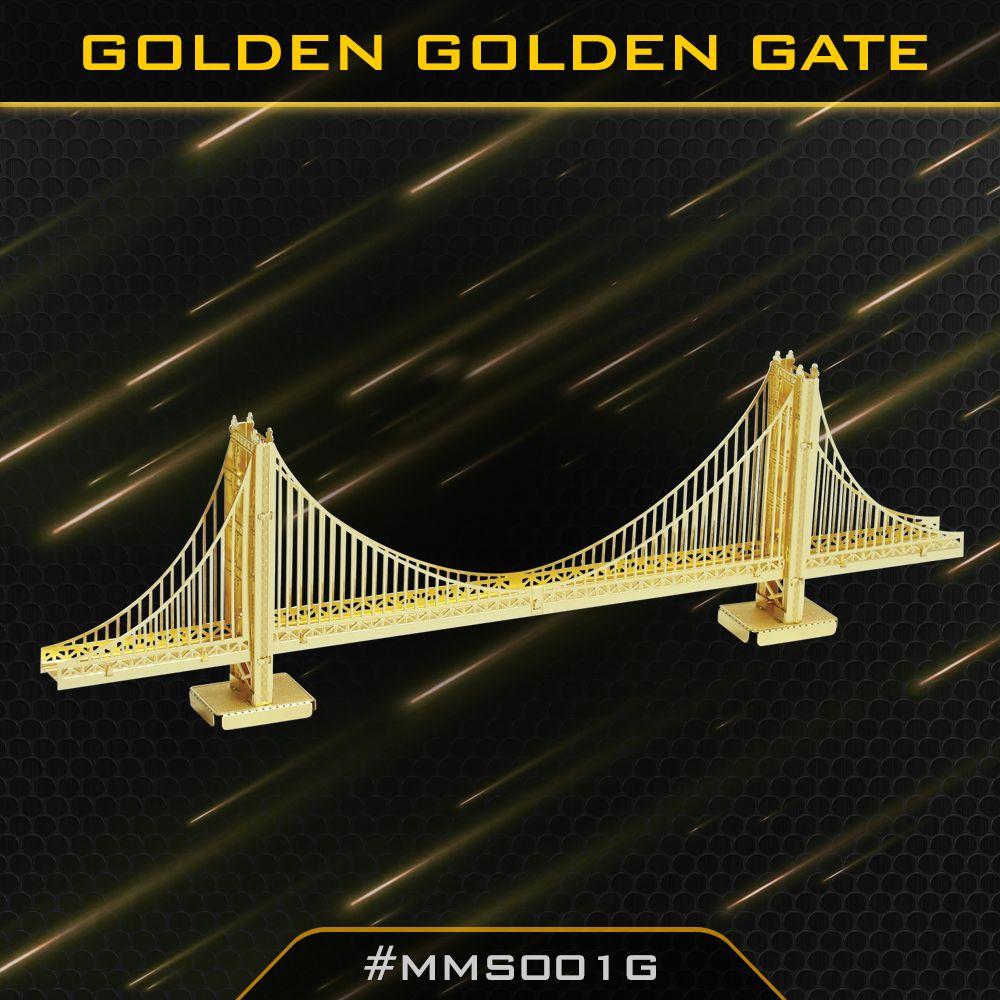 Gold Golden Gate Bridge In 2020 Metal Earth