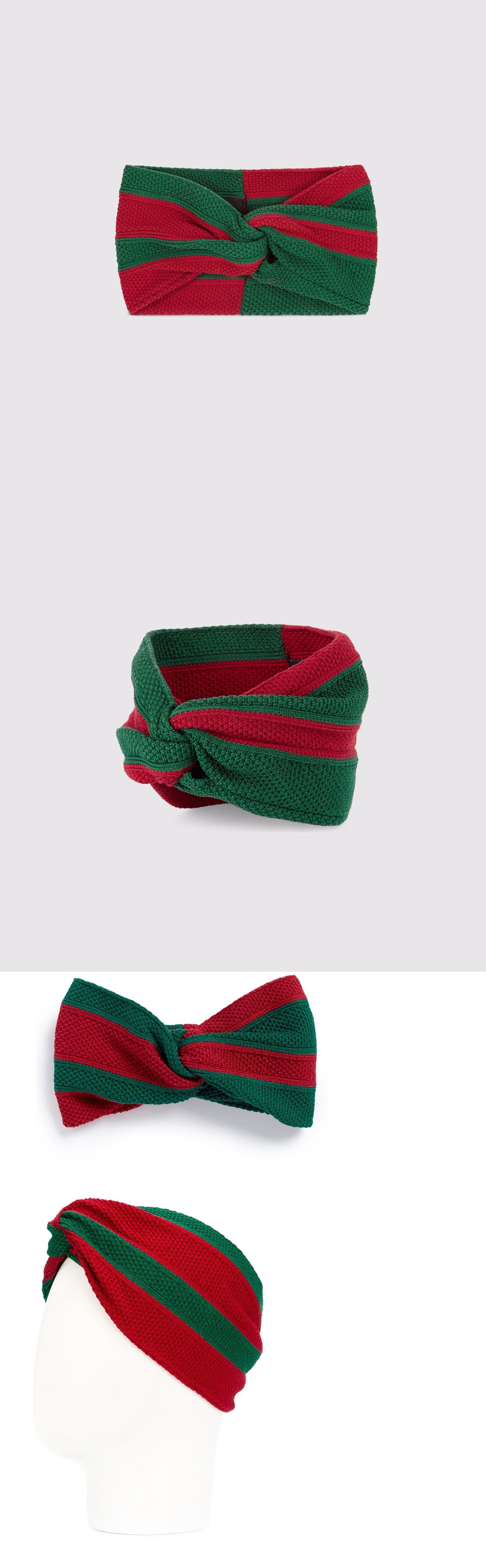 Hair Accessories 45220  Nwt Sold Out Authentic Gucci Runway Red And Green  Web Cotton Knit Knot Headband -  BUY IT NOW ONLY   849 on eBay! 64c4e6e7426