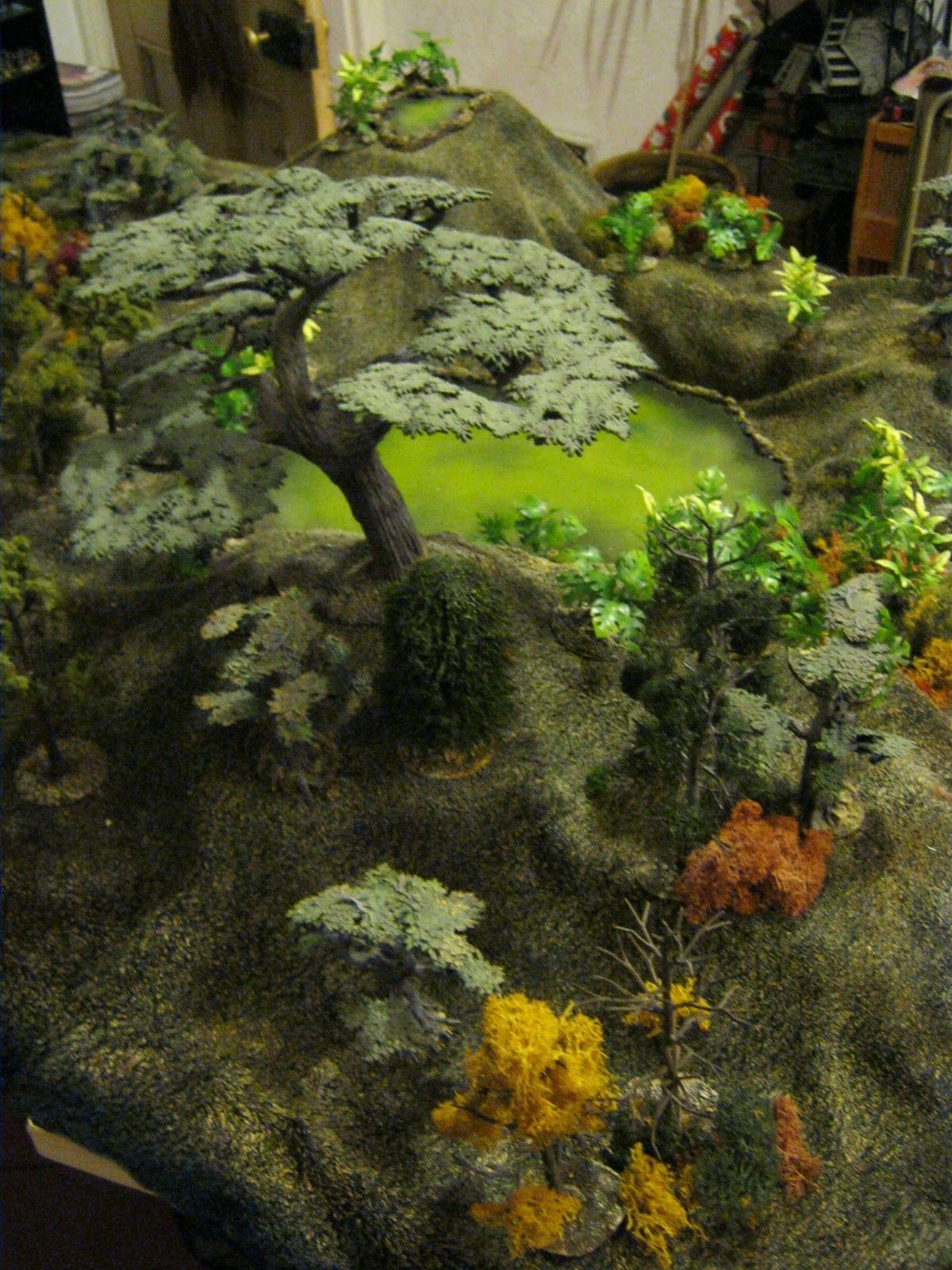 Large tree + warhammer leaves | Wargame Terrain | Fantasy miniatures