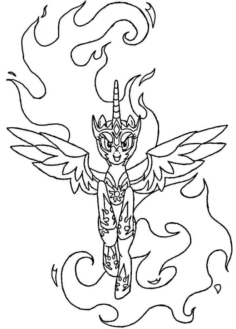 Princess Celestia Coloring Page Youngandtae Com In 2020 My Little Pony Coloring Princess Coloring Pages Elsa Coloring Pages