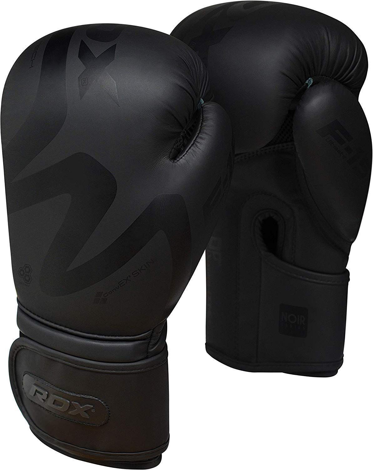 435094741bb34 Amazon.com : RDX Boxing Gloves for Training Muay Thai | Matte Black ...
