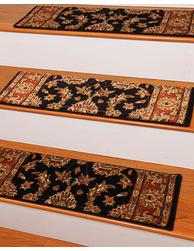 Best Sydney Traditional Style Carpet Stair Treads Black W 400 x 300