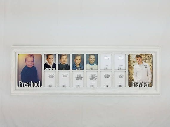 School Years Frame with Name Preschool and Graduation Collage P-12 K ...