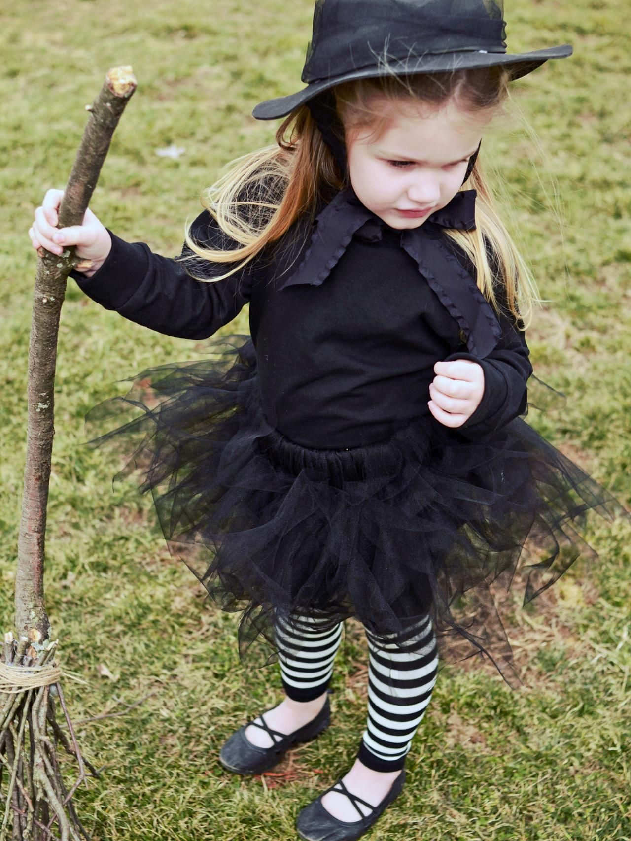 halloween costumes for kids all black witch costume
